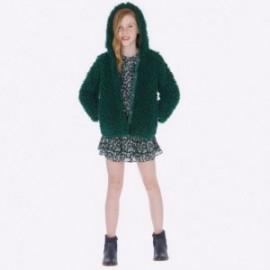 Kabát kožešina s kapucí dívčí Mayoral 7416-29 Láhev