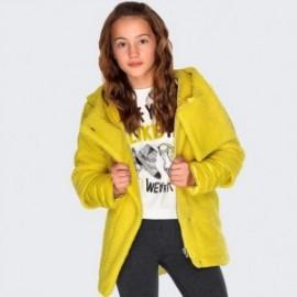 Bunda s kapucí elegantní dívčí Mayoral 7426-61 Akát