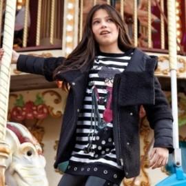 Bunda s kapucí elegantní dívka Mayoral 7426-60 Černá
