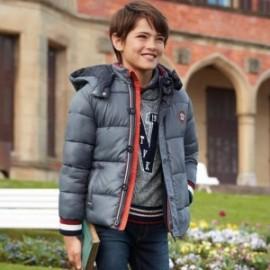 Bunda na zimu s odnímatelnou kapucí pro chlapce Mayoral 7442-18 Ocel