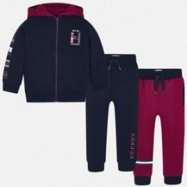 Track-suit mikina 2 páry kalhoty chlapci Mayoral 4812-81 Granát