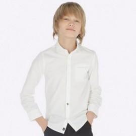 Košile s dlouhými rukávy a motýlkem chlapec Mayoral 7120-55 Bílá