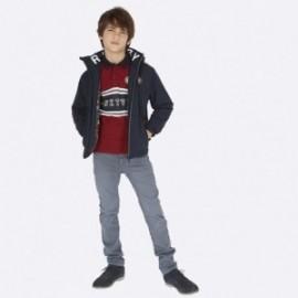 Kalhoty z měkkého džínoviny pro chlapce Mayoral 7515-84 Ocel