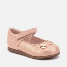 Boty baleríny u koček s pásem pro dívku Mayoral 42014-26 Růžová