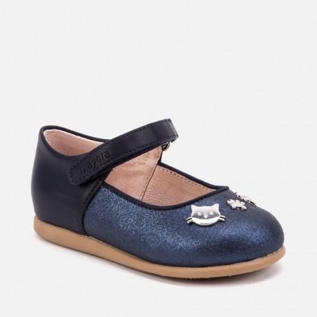 Boty baleríny u kočky s pásem pro dívku Mayoral 42014-25 Granát