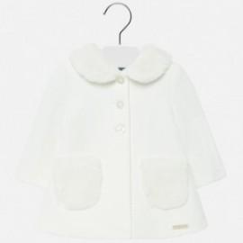 Elegantní kabát s límečkem pro dívku Mayoral 2426-91 smetanový