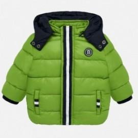 Prošívaná zimní bunda s kapucí pro chlapce Mayoral 2448-84 Pistachio