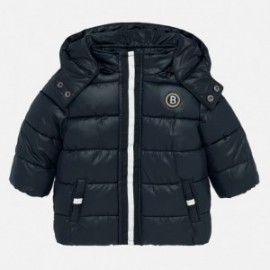 Zimní prošívaná bunda s kapucí pro chlapce Mayoral 2448-86 Navy