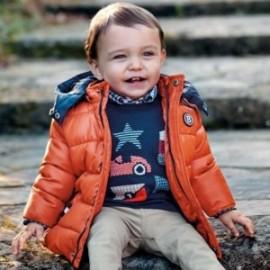 Prošívaná zimní bunda s kapucí pro chlapce Mayoral 2448-85 Pumpkin