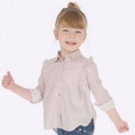 Elegantní halenka s pruhovaným límcem pro dívku Mayoral 4107-20 růžová
