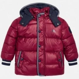 Bunda na zimu s odnímatelnou kapucí pro chlapce Mayoral 4442-70 Červená řepa