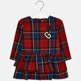 Mayoral 4937-41 Červené šaty pro dívku