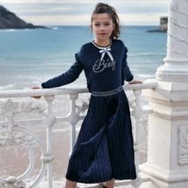 Tričko s dlouhým rukávem pro dívku Mayoral 7007-93 Cream