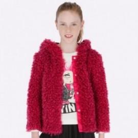 kabát kožešina s kapucí dívka Mayoral 7416-28 Fuchsia