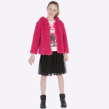 Midi sukně plisovaný tyl dívky Mayoral 7913-39 Černá