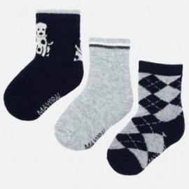 Sada 3 ponožek pro chlapce Mayoral 10634-18 granát