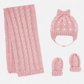 sada klobouk a šátek pro dívku Mayoral 10644-53 růžový