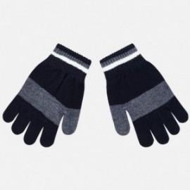 Tříbarevné trikolorní rukavice pro chlapce Mayoral 10686-28 granát