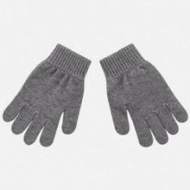 Rukavice s pěti prsty hladké pro chlapce Mayoral 10687-47 Anthracite