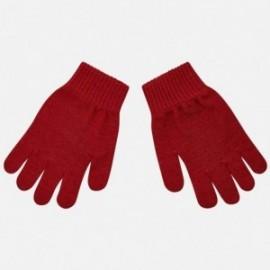 Rukavice s pěti prsty hladké pro chlapce Mayoral 10687-45 bordó
