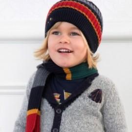 Set klobouk a šátek s pruhy pro chlapce Mayoral 10695-56 Steel