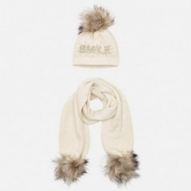 Nastavit klobouk a šátek s nápisem pro dívku Mayoral 10700-36 písek