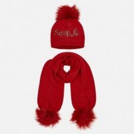 Nastavit klobouk a šátek s nápisem pro dívku Mayoral 10700-39 červená