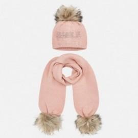 Nastavit klobouk a šátek s nápisem pro dívku Mayoral 10700-37 křemen
