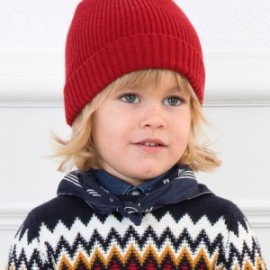 Hladká čepice pro chlapce Mayoral 10704-50 bordó
