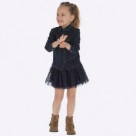 Tyl sukně s leskem holčičí Mayoral 4901-49 granát
