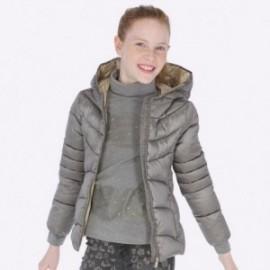Bunda s kapucí na zip holčičí Mayoral 7418-66 Titanium