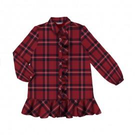 Sukienka w kratkę dla dziewczynki Mayoral 7936-76 Czerwony