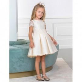 Společenské šaty pro dívku Abel & Lula 5003-3 krém