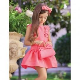 Žakárové společenské šaty pro dívku Abel & Lula 5019-7 Meloun