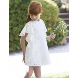 Žakárové šaty s prolamované pro dívky Abel & Lula 5041-2 Cream
