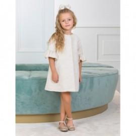 Elegantní lesklý kabát pro dívky Abel & Lula 5308-20 krém
