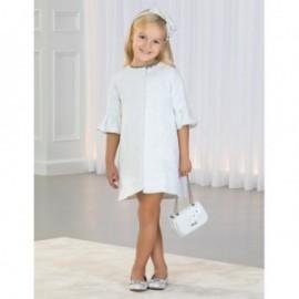 Elegantní lesklý kabát pro dívku Abel & Lula 5308-19 bílá