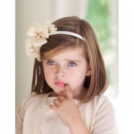 Čelenka Raffia květina pro dívku Abel & Lula 5418-2 krém