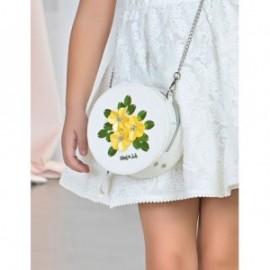 kabelka flitry květiny pro dívku Abel & Lula 5442-1 bílá