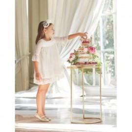 Krajkové a guipure šaty pro dívku Abel & Lula 5004-2 krém