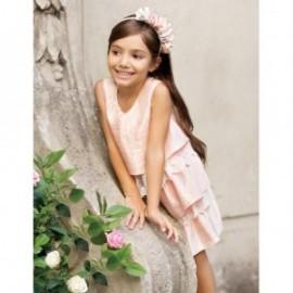 Krajkové volánkové společenské šaty Abel & Lula 5012-5 růžové