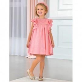 Společenské šaty s volánkami pro dívku Abel & Lula 5017-6 růžová