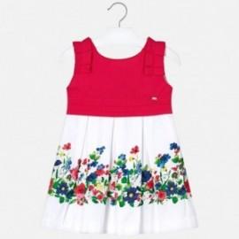 Mayoral 3935-97 Dívčí červené šaty