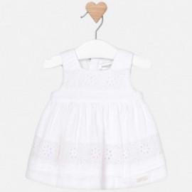 Mayoral 1827-10 Dívčí bílé šaty