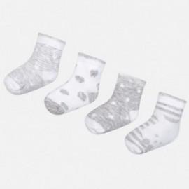 Mayoral 9006-49 Sada 4 párů dětských ponožek šedá