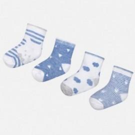 Mayoral 9006-51 Sada 4 párů chlapeckých ponožek modrý