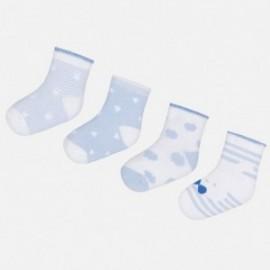 Mayoral 9006-48 Sada 4 párů dětských ponožek modrý