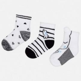 Mayoral 9015-66 Sada 3 párů chlapeckých ponožek černá