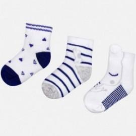 Mayoral 9015-68 Sada 3 párů dětských ponožek námořnická modrá