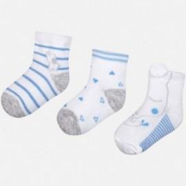 Mayoral 9015-67 Sada 3 párů dětských ponožek modrá